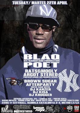 blaq poet (screwball  ganstarr foundation) in bcn! – DJ Kisa 0834440d12a